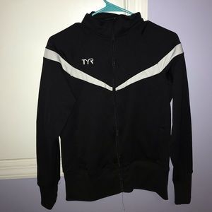 Black with white stripe  XS TYR track suit